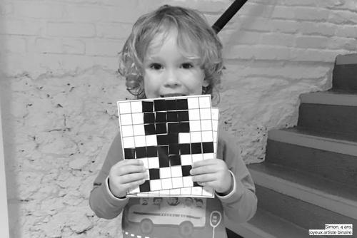 Colori: informatique Montessori - système binaire